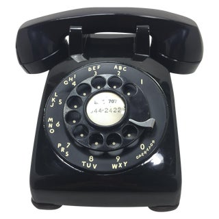 Black Western Electric Rotary Dial Phone