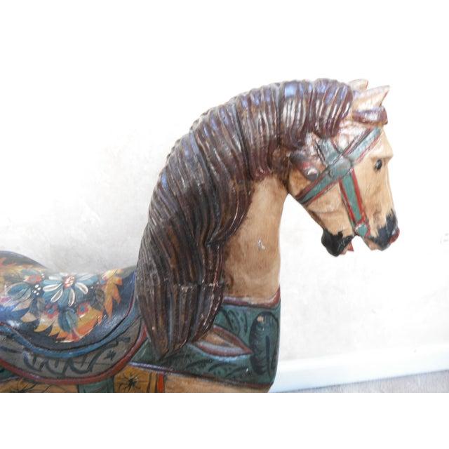Vintage Display Hand Painted Rocking Horse - Image 7 of 10