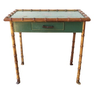 20th C. Faux Bamboo Side Table