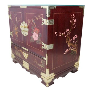 Hand Painted Petite Wood Chest of Drawers