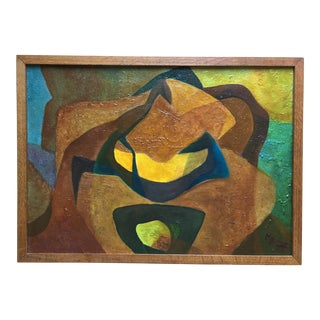 Mid-Century Framed Abstract Painting