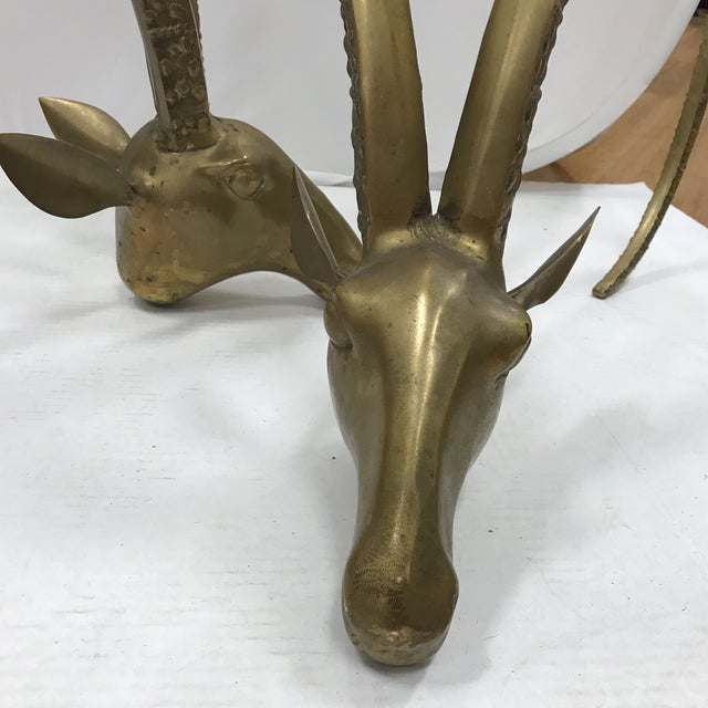 Image of Brass Ibex Head Coffee Table Base - A Pair