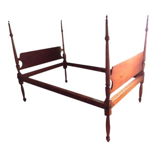 Late 18th Century Antique Cherrywood Bed