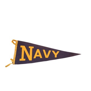 Extra Large Navy Felt Flag