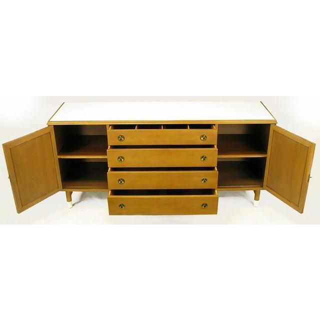 Renzo Rutili Bleached Mahogany and White Micarta Long Cabinet - Image 4 of 8