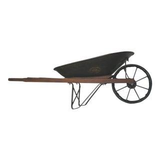 Antique Jackson Manufacturing Iron Wheelbarrow