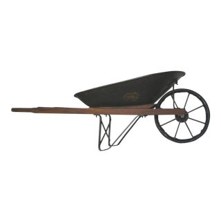 Antique Jackson Manufacturing Iron Wheelbarrow