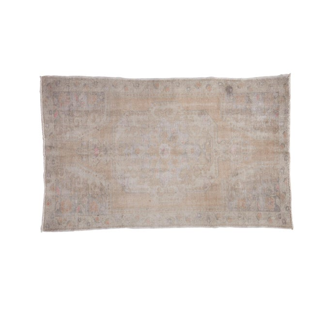 "Distressed Oushak Rug - 4'4"" X 7'1"" - Image 1 of 10"