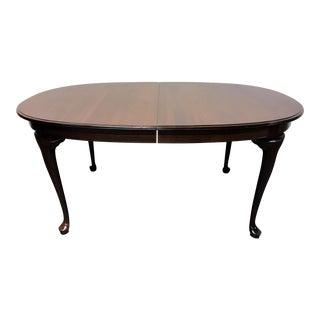 Ethan Allen Cherry Queen Anne Dining Table