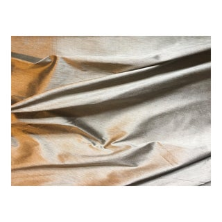 Silk Dupioni Pewter & Gold Fabric