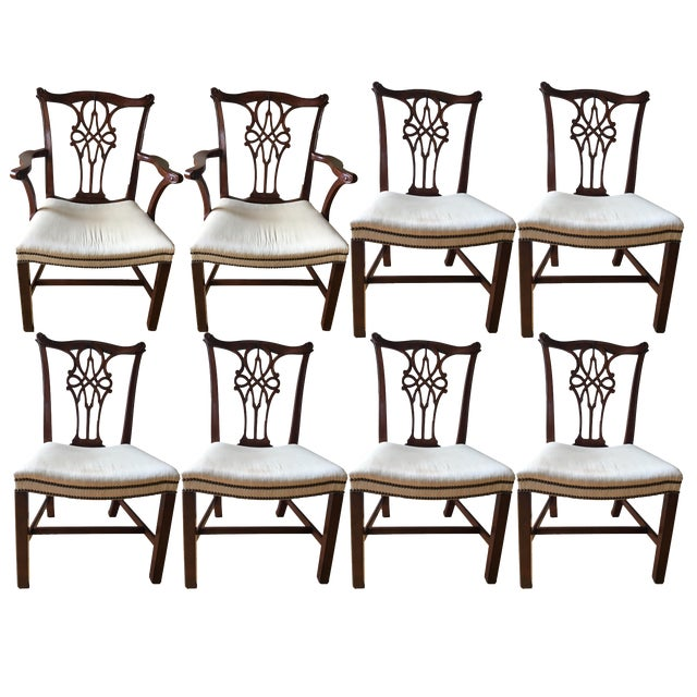 Image of Baker Furniture Mahogany Dining Chairs - Set of 8