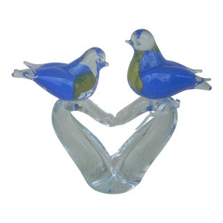 Perching Blue Birds Figurine