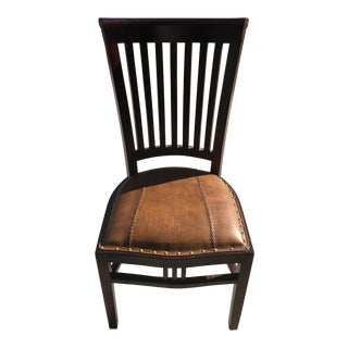 Leather Ladder Back Chair