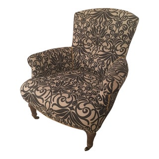 Contemporary Navy Print Linen Lee Industries Chair