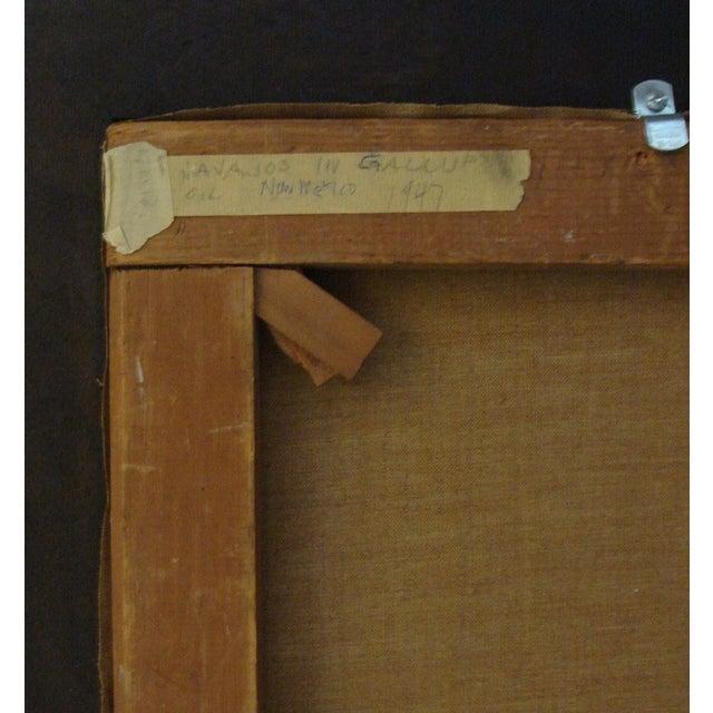 """John Haley """"Navajos at Gallup"""" 1947 Painting - Image 7 of 7"""
