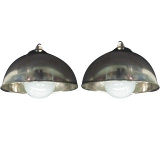 Two French Marine Industrial Ceiling Fixtures or Sconces