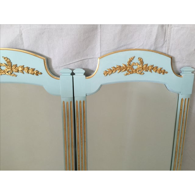 Hollywood Regency Mint Turquoise Gilt Mirrors-Pair - Image 5 of 5