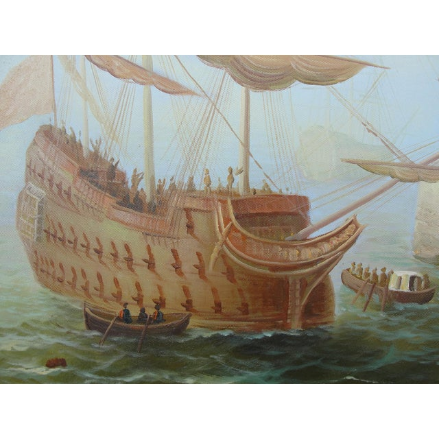 """""""Merchant Ship in Port"""" Painting - Image 6 of 10"""