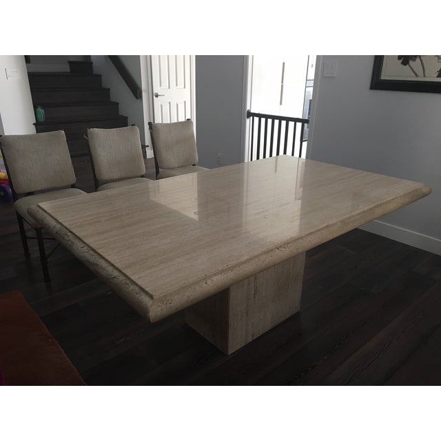 Italian Travertine Dining Room Set - Image 2 of 7
