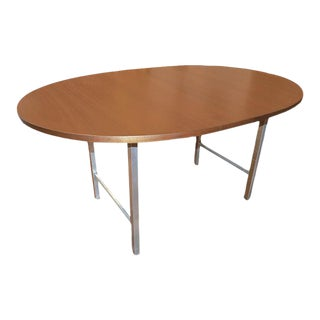 Walnut & Steel Expandable Dining Table