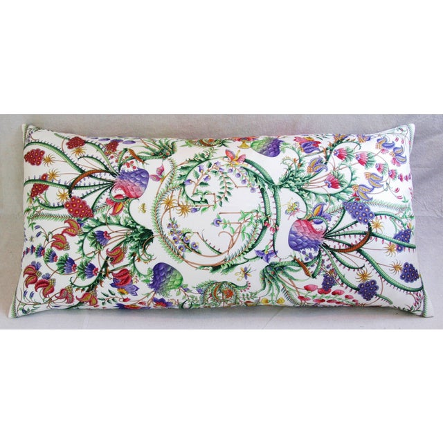 Designer Italian Gucci Floral Fanni Silk Pillow - Image 9 of 11