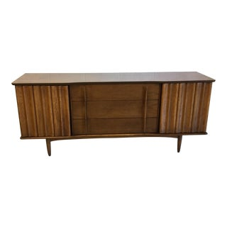 Mid Century Kent Coffey Style Walnut 9 Drawer Dresser