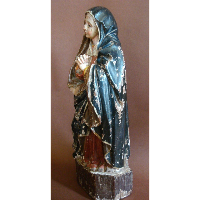 18th Century Antique Spanish Colonial Saint/Virgin - Lady Of Sorrow - Image 4 of 9