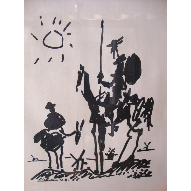 1960s Lambert Studios Picasso Print on Fabric - Image 2 of 5