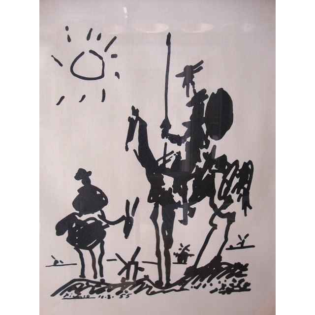 Image of 1960s Lambert Studios Picasso Print on Fabric