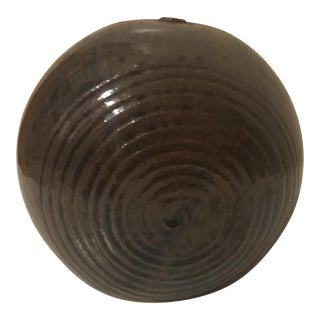 Studio Pottery Round Orb Pot