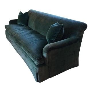 Custom Schumacher Green Velvet Sofa