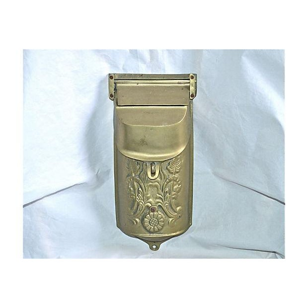 Vintage Brass Mailbox With Peephole - Image 10 of 11