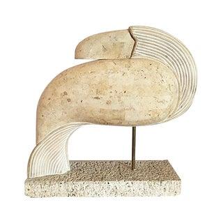 Tessellated Stone Maitland Smith Bird Sculpture