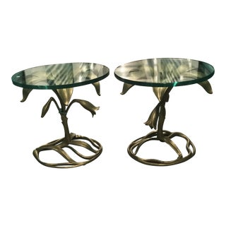 Arthur Court Lily Side Tables - A Pair