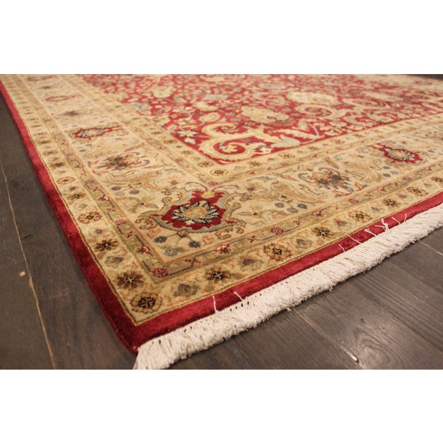 """Hand-Knotted Tabriz Wool Rug - 6' x 8'10"""" - Image 5 of 5"""