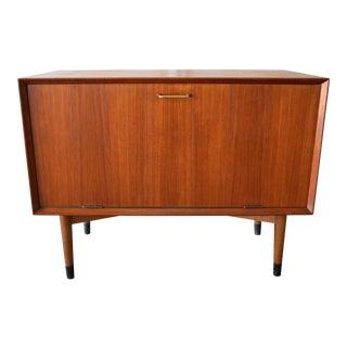 Vintage Danish Mid-Century Modern Teak Record Cabinet