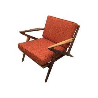 """Mid Century Walnut """"Z"""" Lounge Chair"""
