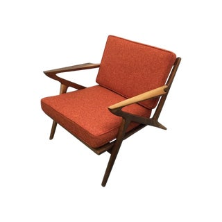 "Mid Century Walnut ""Z"" Lounge Chair"