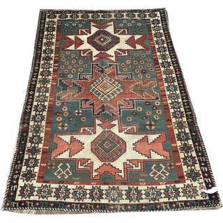 Antique Caucasian Lesghi / Shirvan Area Rug - 3′4″ × 5′4″