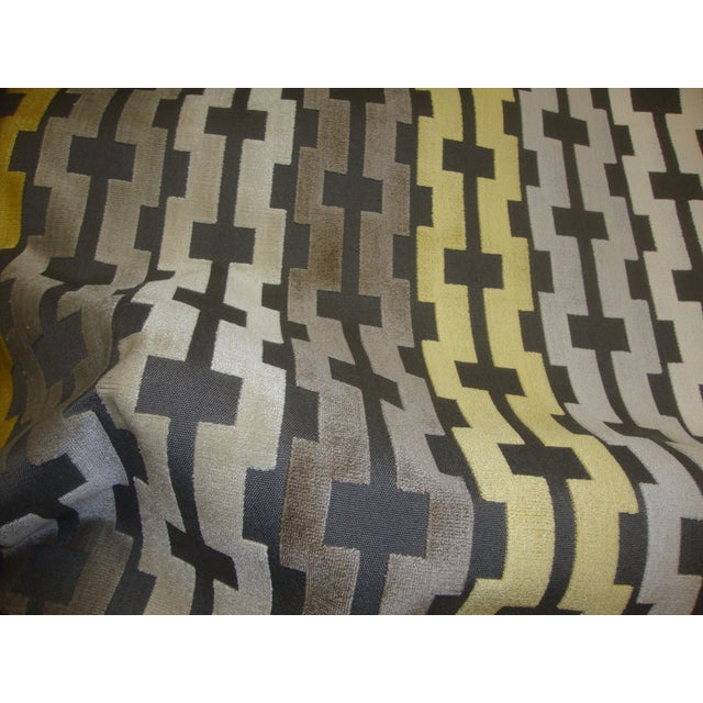 Velvet Geometric Accent Pillows - A Pair - Image 2 of 3