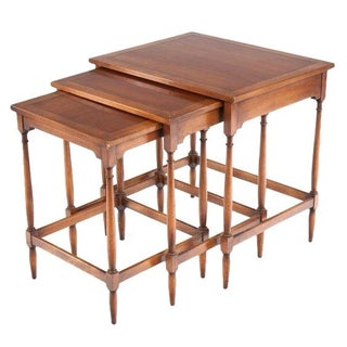 Vintage Federal Style Inlaid Nesting Tables