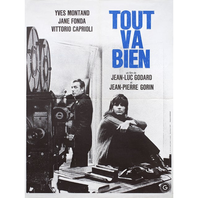 """""""Tout Va Bien"""" French Movie Poster - Image 2 of 2"""