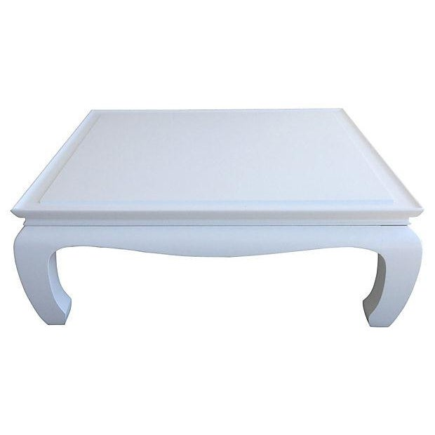 White Lacquered Ming Coffee Table - Image 1 of 5