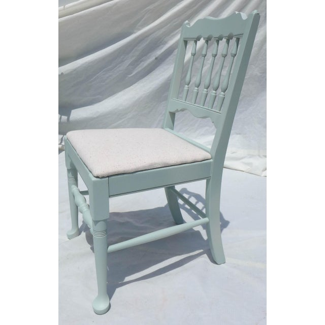Cottage Mahogany Sea Breeze Chairs - Set of 6 - Image 5 of 8