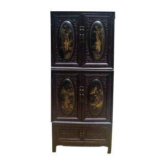 Chaozhou Carved & Painted Cabinet