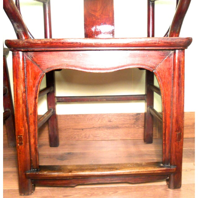 Antique Chinese Ming Armchairs - A Pair - Image 8 of 9