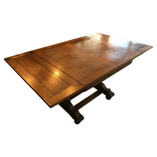 1940s Antique Solid Wood Table
