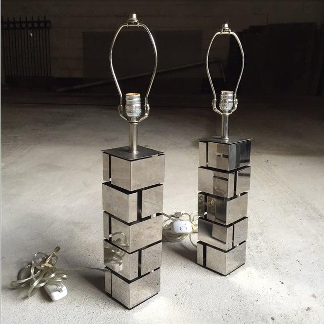 Laurel Lamp Co. Architectural Metal Lamps - A Pair - Image 3 of 6