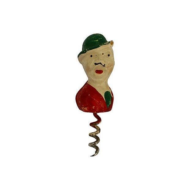 Image of 1950's Cork Screw, Bottle Opener & Cork- Set of 3