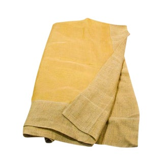 Sheer Linen Tablecloth in Yellow